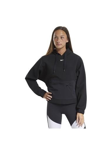 Reebok Kadın Siyah Ts Edgewrks Hoodıe Sweatshirt FT0848-K Siyah